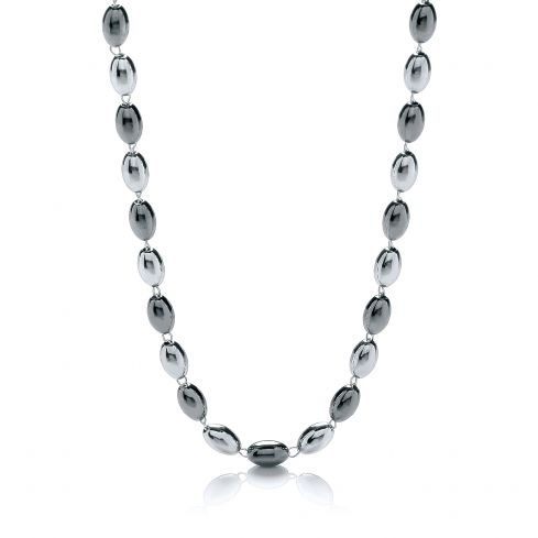 Silver Bead Necklace 36