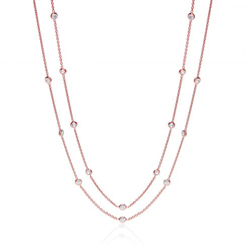 Silver Fancy Necklace Set With Cubic Zirconia 38
