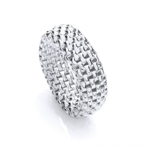 Silver & Band Ring Silver