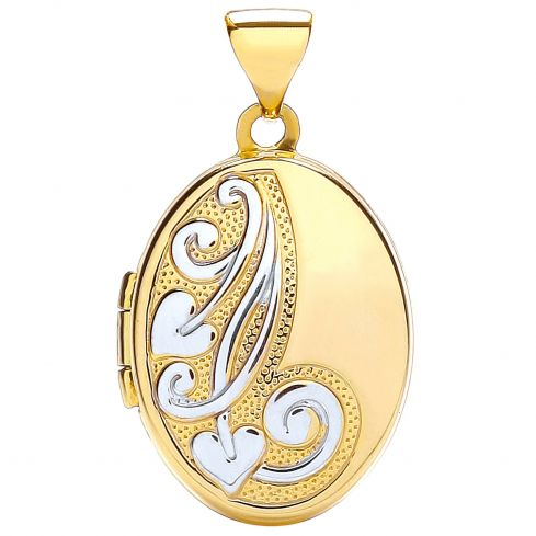 9ct Yellow Gold Oval Shaped Locket Gold