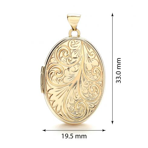 9ct Yellow Gold Oval Locket Gold