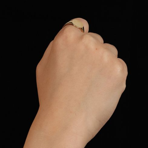 9ct Yellow Gold Signet Ring 12 x 13mm Gold