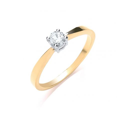 18ct Yellow Gold 0.25cts Diamond Engagement Ring