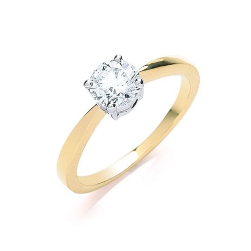 18ct Yellow Gold 0.70cts Diamond Engagement Ring