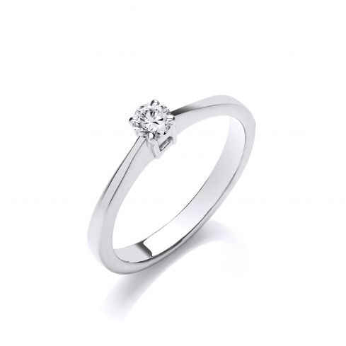 9ct White Gold 0.15cts Diamond Engagement Ring