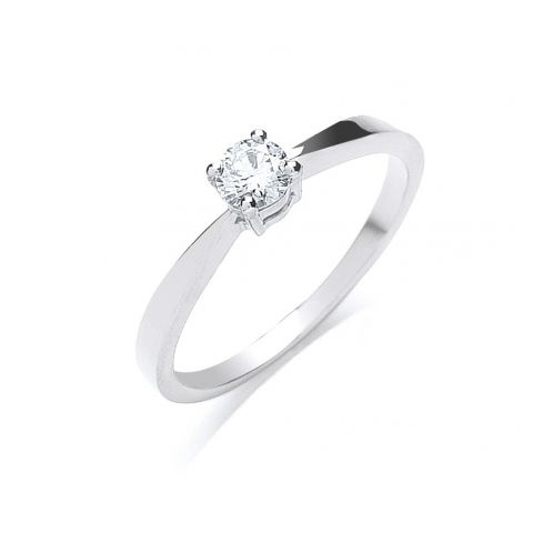 18ct White Gold 0.25cts Diamond Engagement Ring
