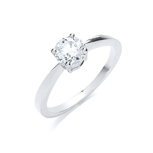 18ct White Gold 0.70cts Diamond Engagement Ring