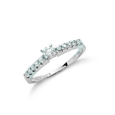 18ct White Gold 0.50cts Diamond Engagement Ring