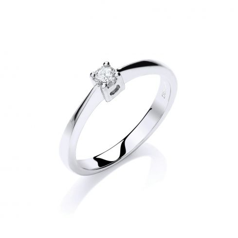9ct Gold and 0.10cts  diamond Solitaire Ring Diamond Gold