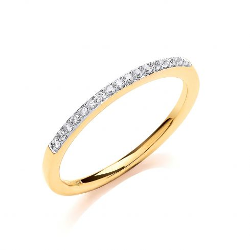 9ct Yellow Gold 0.10ct Eternity Ring