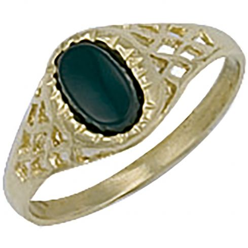 9ct Yellow Gold Baby Oval Ring