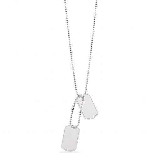Silver Tags Necklace Silver
