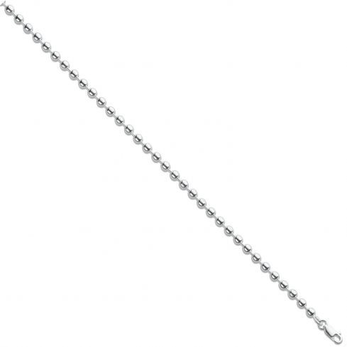 Silver 4mm Ball Link Chain