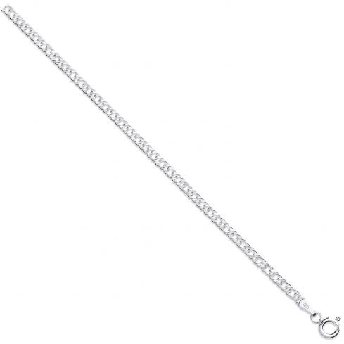 Silver 4.5mm Double Link Curb Chain