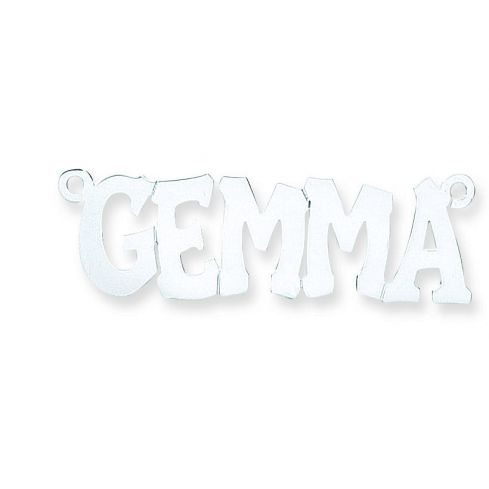 Silver Large Hip Hop Style Name Necklace