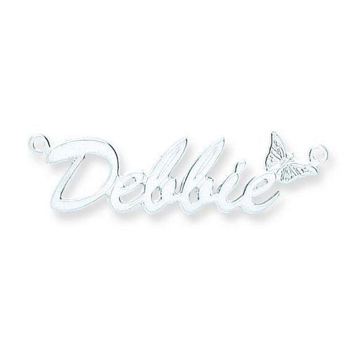 Silver Script Butterfly Name Necklace