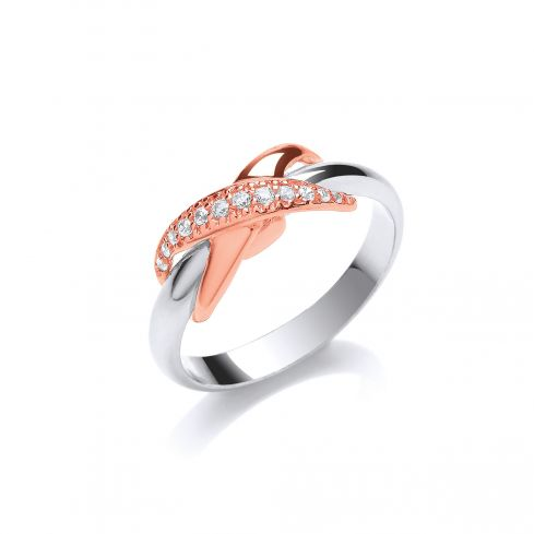 Silver RG Coated Kiss Cz Ring